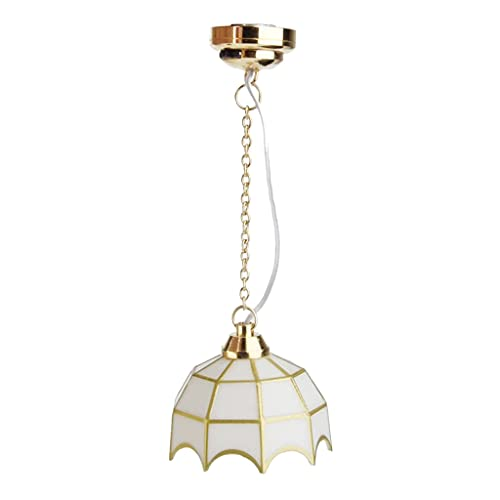 bibididi 1:12 12V lámpara de Techo Modelo Accesorios de decoración casa de muñecas Muebles en Miniatura, Botella de Almacenamiento de plástico