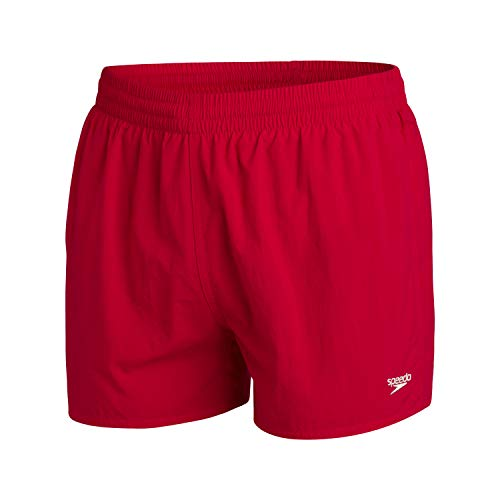 """Speedo Fitted Leisure 13"""" WS Bañador, Hombre, Fed Red, L"""