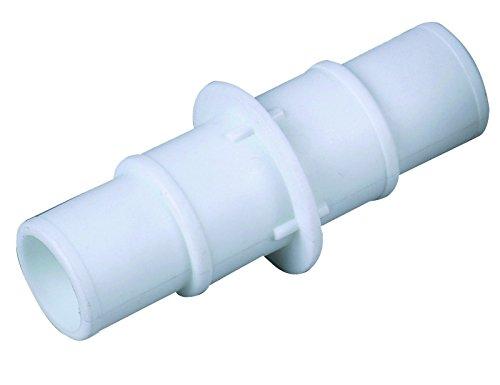 well2wellness® Weißer Universal - Schlauchverbinder für 32 und 38mm - auch zum Reduzieren von 38 auf 32mm (021439)