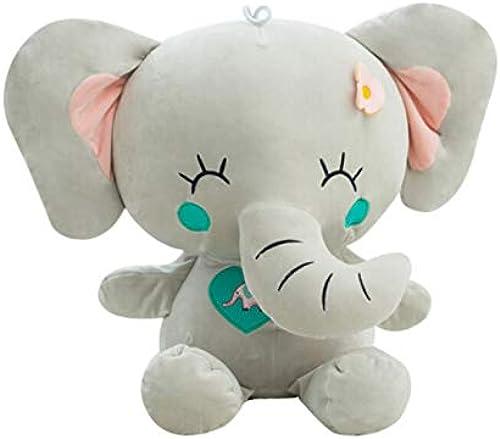 precio mas barato NOWPST Cute Elephant Elephant Elephant Plush Toys Stuffed Dolls para Niños Decoración para El Hogar Regaño De Cumpleaños para Niños De 60cm De Altura  punto de venta en línea