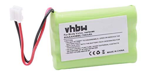 vhbw 1x NiMH Akku 700mAh (3.6V) für schnurlos Festnetz Telefon Topcom Coccon 350, Cocoon 300 wie 60AAAH3BMJ, u.a.