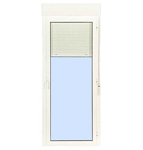 Puerta Balconera Aluminio Practicable Derecha Con Persiana (PVC) 880 ancho x 2185 alto 1 hoja (guías y cajón persiana en kit)