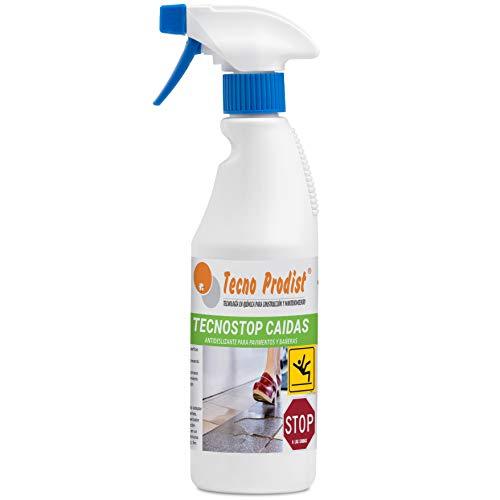 TECNO STOP CAIDAS 500 ML de Tecno Prodist, spray líquido antideslizante suelo, transparente, evita el deslizamiento en todo tipo de superficies como ducha, bañera y pavimentos, etc