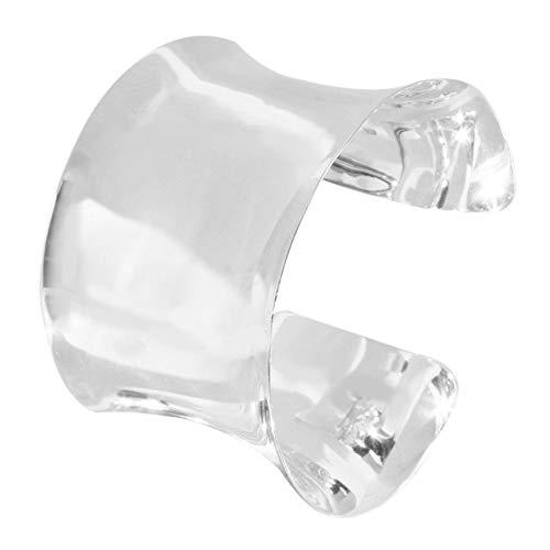 TreasureBay Womens 925 Sterling Silver Cuff Bangle Bracelet
