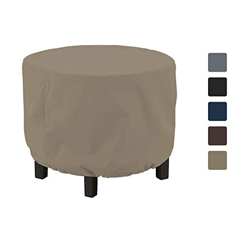 Outdoor Ottoman Cover 12 Oz - Waterproof & Weather Resistant Patio Furniture Covers - Square Ottoman Cover Heavy Duty Fabric with Drawstring for Snug fit (34\