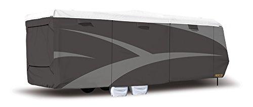 """ADCO 34872 Designer Series Gray/White 20' 1"""" - 24' DuPont Tyvek Toyhauler Trailer Cover"""