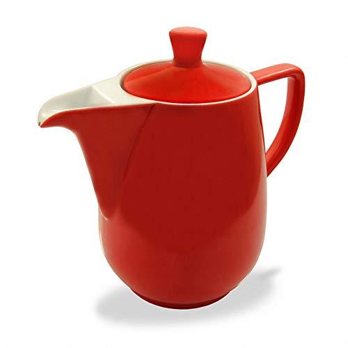 Friesland Kaffeekanne 0,35l Rot Porzellan