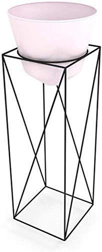 YASE-king Planta StandModern Hierro Planter Estante de exhibición IndooSimple Tiesto Estante del Soporte del balcón Salón Planta de Tiesto Vertical en el Suelo, Rosa-60 × 25 cm