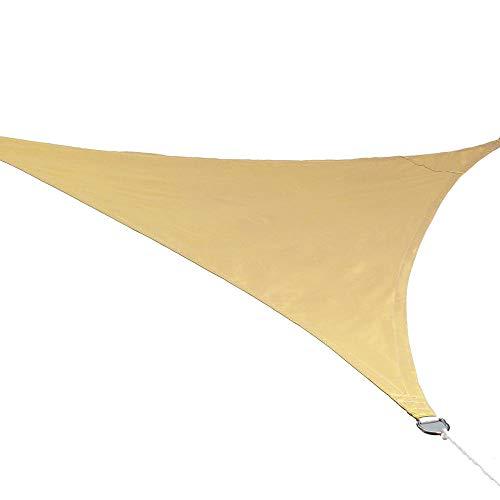 2Mx2Mx2M Triangle Sun Shelter Protección de la sombrilla Toldo al Aire Libre Jardín Patio Piscina Sombra Toldo de Vela Camping Tienda de Picnic-Amarillo