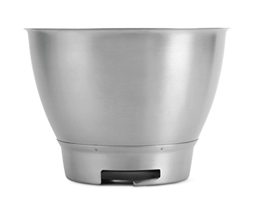 Kenwood Mixing Bowl, Stainless Steel Bowl Chef Elite Food Processor Accessories 4,6 Liter Silver