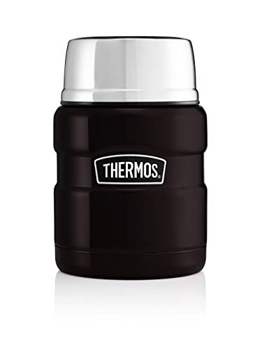 Picture of Thermos 190759 King Food Flask-470 ml, Matt Black, Stainless Steel