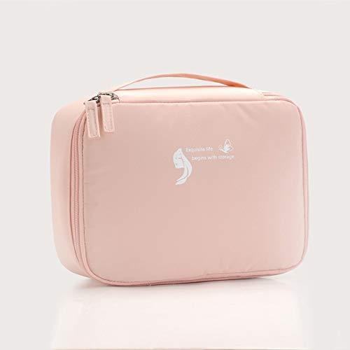 Sac cosmétique Voyage Waterproof Organisateur Portable Trousse Femmes Mode Sacs Valise et Toilette Big Sacs de Maquillage Rose (Color : Pink)