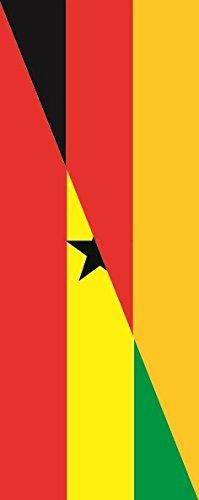 U24 Fahne Flagge Ghana-Deutschland im Hochformat Premiumqualität 80 x 200 cm