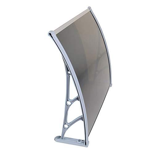 Lw Canopies deurluifel luifel deurdak lessenbogenluifel overkapping polycarbonaat - diverse maten 80×120cm