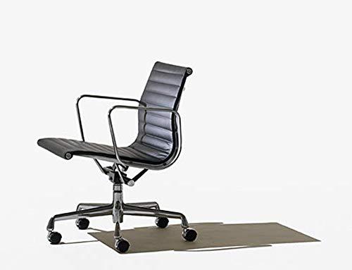 Herman Miller Eames Aluminum Group Management Chair Manual Lift Black Vinyl