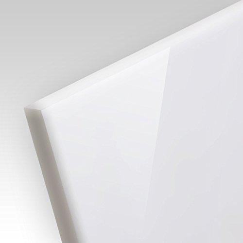 5mm PLEXIGLAS® Platte 100x100 cm weiß opal lichtdurchlässig 30%