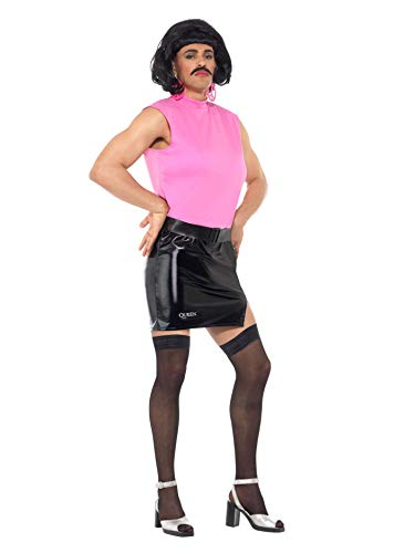 "Smiffys License Dress-up Disfraz de ama de casa de Queen Break Free, Color Rosa/Negro, M-Size 38""-40"" (Smiffy"
