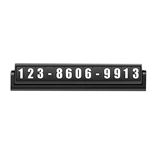 UOOD Signo de Parada Temporal de Coche, Coche Luminoso Moviendo Coche número de teléfono móvil Moviendo camión de Coche Suministros de Interior Daquan Fácil de Instalar (Color : Black)