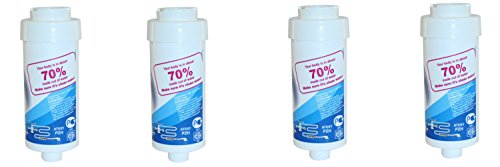 "Aquintos Wasseraufbereitung Fitaqua Duschfilter, Badewannen und Armaturenfilter mit 1/2"" Anschluss 4 Stück"