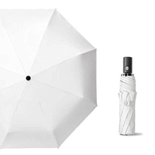 Draagbare paraplu paraplu Srong windproof automatisch 3 vouwscherm regen vrouwen 8Ribs Plain Color paraplu