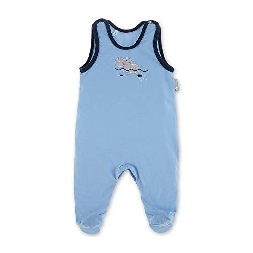 Sterntaler Baby-Jungen Strampler Jersey Nilpferd Spieler, Blau (Himmel 325), 3-6 Monate (Herstellergröße: 62)