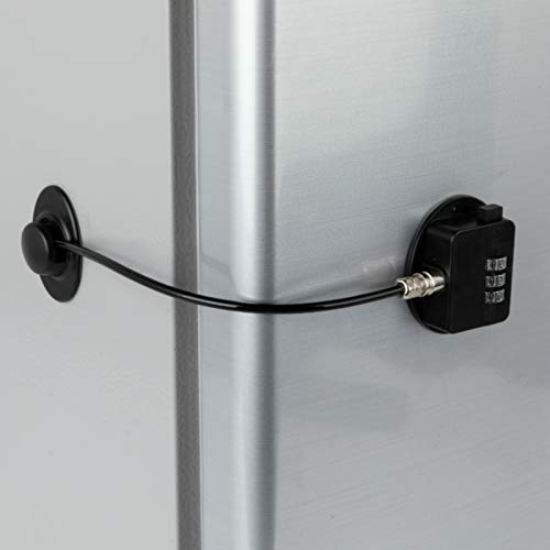 FIGEPO Refrigerator Lock Combination Coded Fridge Lock Freezer Child Safety Lock Door Lock with...
