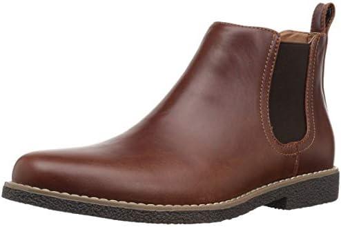 Deer Stags Boy s Zane Memory Foam Dress Comfort Chelsea Boot Redwood Dark Brown 6 Medium US product image