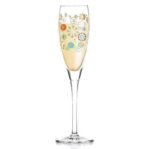 RITZENHOFF Pearls Edition Proseccoglas von Véronique Jacquart, aus Kristallglas, 160 ml, mit edlen Roségoldanteilen