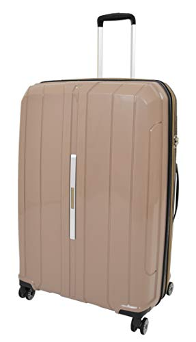 Large Size Check-in Luggage Hard Shell 4 Wheel Suitcase Expandable TSA Lock Travel Bag A803 Brown