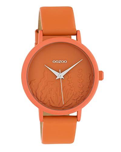 Oozoo Damenuhr Summer Vibes mit Lederband 36 MM Orange C10605