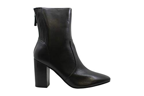 NINE WEST Womens Windsor Leather Round Toe Ankle Fashion Boots, Black, Size 10.0