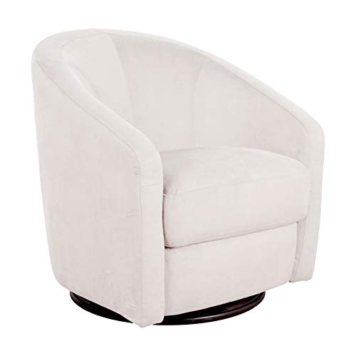 Babyletto Madison Swivel Glider in Ecru Microsuede, Greenguard Gold Certified