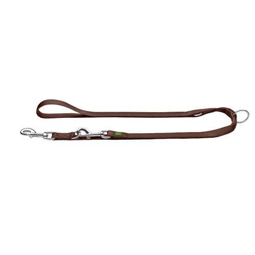 HUNTER 64958 EXTRA LONG Verstellbare Führleine für Hunde, Nylon, extra lang, strapazierfähig, pflegeleicht, 2 x 300 cm, braun