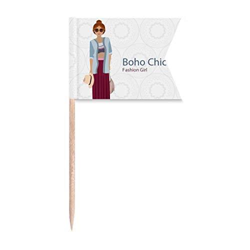 Beauty Gift Der Bohemische Wind Fashion Cartoom Markierung für die Kennzeichnung von Zahnstocher-Flaggen