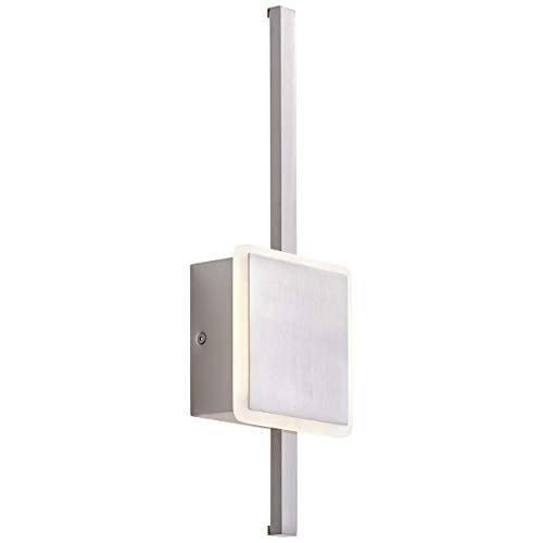 Inessa LED wandlamp 42cm in nikkel, traploos dimbaar via wanddimmer, 16 watt, 1600 lumen, 3000 Kelvin