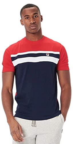 Fila LM037797 - Maglietta classica a maniche corte da uomo Marina Militare XL