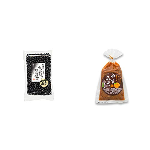 [2点セット] 国産 黒豆茶(200g)・ゆずみそ(130g)