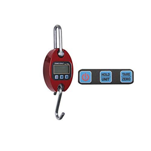 CWTC Escala Colgante 440Lb 200Kg Multifuncional, para La Granja Caza Arco Dibujar Peso Gran Pez Y Grúa Ortopédica con Precisión Sensor báscula electrónica (Color : Rojo)