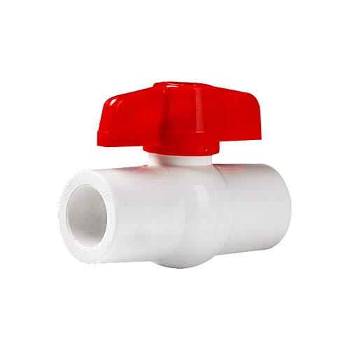 YOFASEN 6 Stück PVC Gerade Verbinder für Wasserrohre - Rohrverbindungsstücke 25mm - Rohrverbinder mit Isolierenden Isolierventilen, Weiß