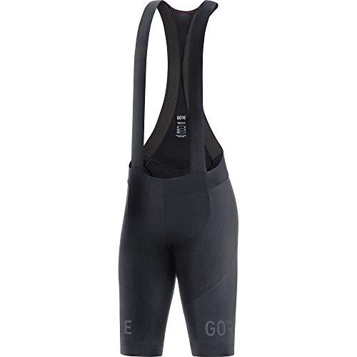 Gore Wear C7 Femme Cuissards courts bretelles+ Bibs, noir, FR : S (Taille Fabricant : 36)