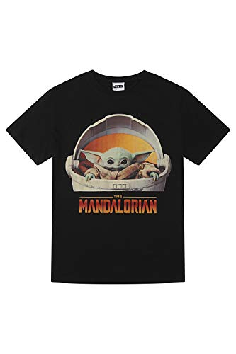 Star Wars The Mandalorian The Child Yoda Floating Pod T-Shirt für Herren Gr. S, Schwarz