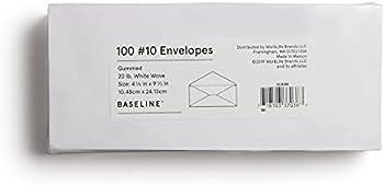 100-Pack Baseline Gummed #10 Business Envelopes