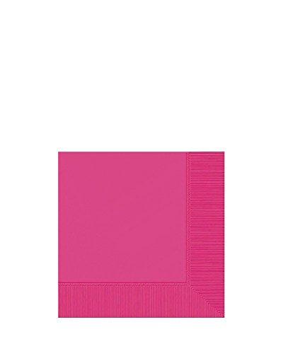 Amscan Drank Servetten - Helder Roze, 25 cm x 25 cm