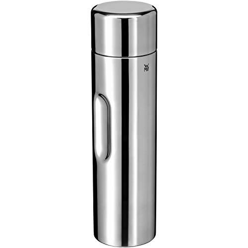 WMF Motion Isolierkanne 1,0l Cromargan Edelstahl, für Tee oder Kaffee, Thermosflasche mit Trinkbecher, hält 24h kalt & 12h warm
