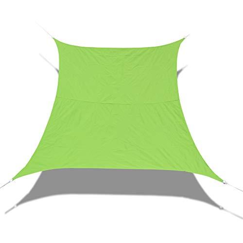 Laxllent Toldo Vela de Sombra,Protección Rayos UV,Impermeable y Resistente,Toldo para Jardín Balcón Terraza Coche y BBQ,con Cuerda Libre,PES,Cuadrado,3x3M,Verde