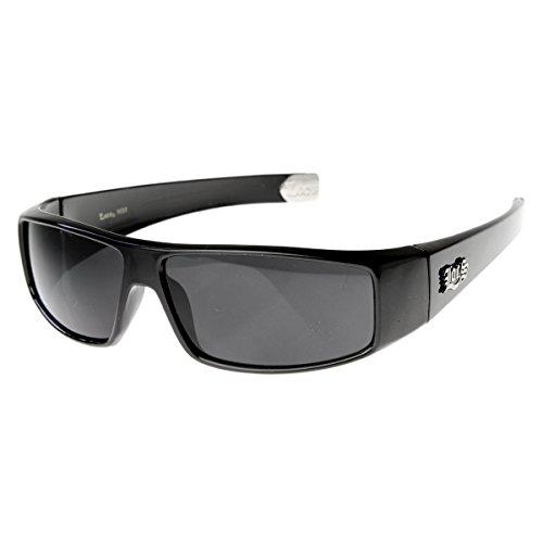 Locs – Óculos de sol com fechaduras rígidas OG Gangsta, Preto, One-Size