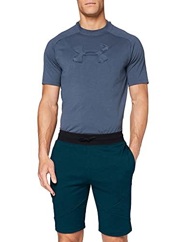 Under Armour Unstoppable 2X Knit Shorts Pantalones Cortos, Hombre, Verde (Teal Vibe/Black 417), XL