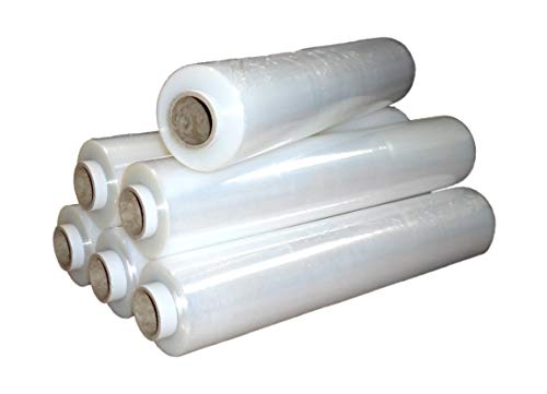 REALPACK 1 x QUALITY FLUSH CORE CLEAR PALLET STRETCH WRAP STRONG SHRINK FILM | SIZE - 400mm X 300m | IDEAL FOR WRAP | FREE FAST DELIVERY