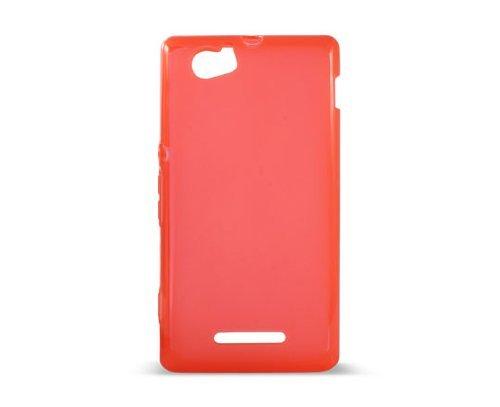 Ksix B3447FTP06 - Funda flex TPU para Sony Xperia M, Rojo