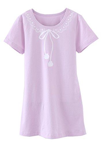 ABClothing Grils Solid Purple Nachthemd Pyjama Nachthemd 3-4 Jahre